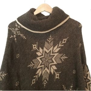 Cocogio Wool Mohair Blend Italy Made Poncho S/M